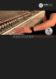 AUDIO ENGINEER PROFESSIONAL - Audiocation Audio Akademie