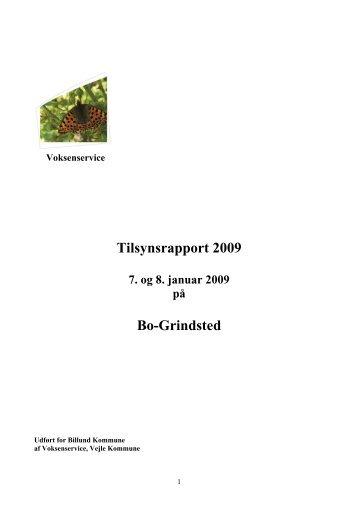 Tilsynsrapport 2009 Bo-Grindsted - Billund Kommune