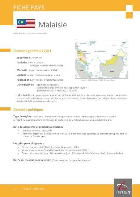 fiche Malaisie - ILE-DE-FRANCE INTERNATIONAL