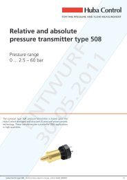 Relative and absolute pressure transmitter type 508