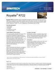 Royalite R722 - Spartech Corporation