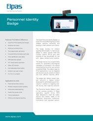 Personnel Identity Badge - Visonic Technologies