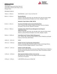 Program Schedule - American Diabetes Association