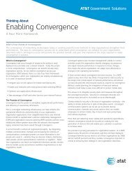 Thinking About Enabling Convergence - AT&T