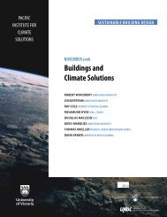 Buildings and Climate Solutions (Nov. 2008) - Pacific Institute for ...