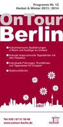 Programm Nr. 12 Herbst & Winter 2012 / 2013 ... - OnTour-Berlin