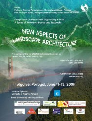 new aspects of landscape architecture - WSEAS
