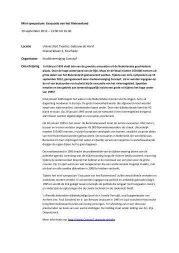 volledige beschrijving - Studievereniging ConcepT - Universiteit ...