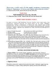 Short term e- tender notice for the supply, Installation ...