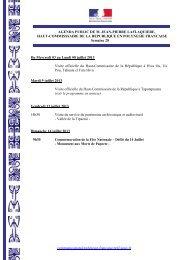 communication@polynesie-francaise.pref.gouv.fr AGENDA PUBLIC ...