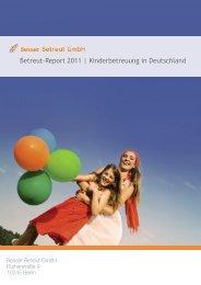 Betreut-Report 2011 | Kinderbetreuung in Deutschland - betreut.de
