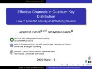 Effective Channels in Quantum Key Distribution - How to ... - UGCS