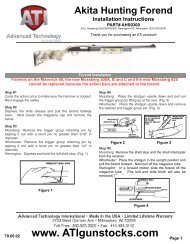 Akita Hunting Forend Installation Instructions - MidwayUSA
