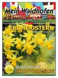 FROHE OSTERN - Pro Waidhofen