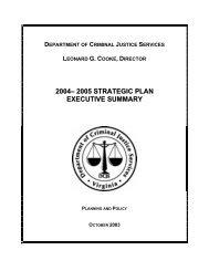 2004– 2005 strategic plan executive summary - Virginia Department ...