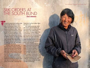 SILK ORDERS AT THE SOUTH BUND