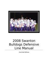 2008 Swanton Bulldogs Defensive Line Manual