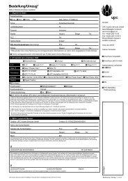Bestellformular - Upc