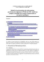 Avis n°2008-06 du 06 mars 2008, du Conseil national - Autorité des ...