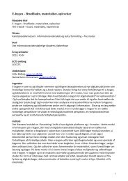 Fagets / modulets titel - Det Informationsvidenskabelige Akademi