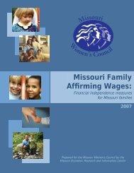 Self-Sufficiency Standard Report (pdf) - Missouri Women's Council