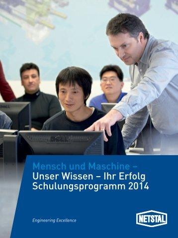 Schulungsprogramm Maschinen für universelle ... - Netstal