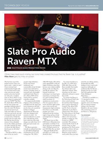 AUDIO MEDIA by Mike Aiton - Slate Pro Audio