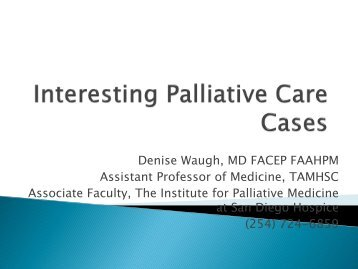 Palliative Care - Healthcare Professionals