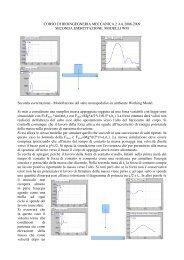 CORSO DI BIOINGEGNERIA MECCANICA 2 AA 2008 ... - Dimeca