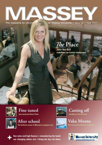 April 2007 - Massey University