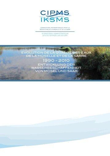 evolution de la qualité des eaux de la moselle et de la sarre ...