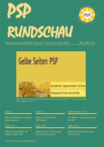 PSP-Rundschau 1 - PSP-Gesellschaft