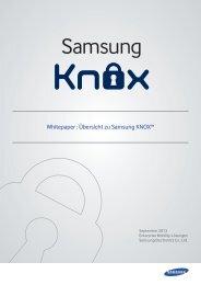 Samsung KNOX White Paper (pdf - 8.8 MB)