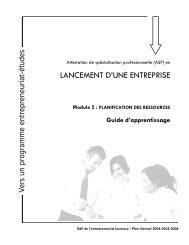 LANCEMENT D'UNE ENTREPRISE - Inforoute FPT