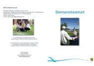 Informasjonsbrosjyre om demensteamet - Sarpsborg kommune