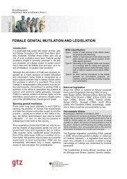 female genital mutilation and legislation - Intact-network.net