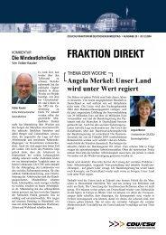 Fraktion direkt - Ausgabe 25 vom 03. Dezember 2004