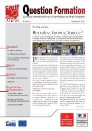 Question Formation n°2 - Carif Oref Midi-Pyrénée