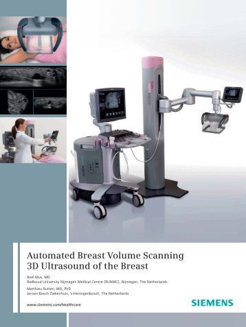 Automated Breast Volume Scanning 3D Ultrasound of the Breast