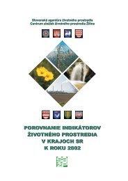 porovnanie indikátorov ivotného prostredia v ... - Enviroportal.sk