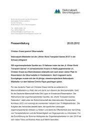 Silbermedaille für Christian Grassl - Nationalpark Berchtesgaden ...