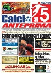 calcio a 5 anteprima 18/10 CS