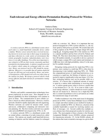 Fault-tolerant and Energy-efficient Permutation ... - IEEE Xplore