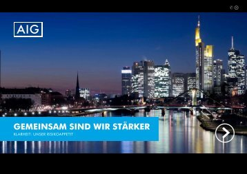 Broschüre: Gemeinsam sind wir stärker - bei AIG in Deutschland