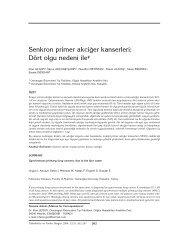 Senkron primer akciğer kanserleri - Tüberküloz ve Toraks