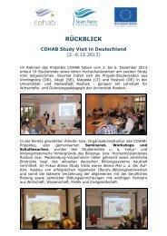Kurzbericht COHAB Study Visit in Deutschland - Wirtschafts
