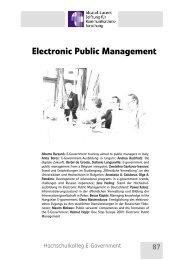 87 Electronic Public Management - Alcatel-Lucent Stiftung für ...