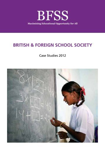 BFSS Grants Brochure 2012 - The British and Foreign School Society