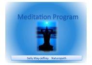 Meditation Program Outline - Sally May-Jeffrey