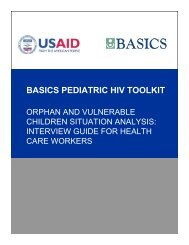 Orphan and Vulnerable Children Situation Analysis ... - basics